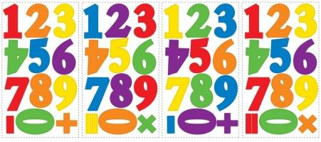 Numbers Primary Peel & Stick Wall Decals - Free Shipping