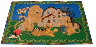 Numbers Rule Educational Rug 10'9 x 13'2