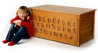 Oak Toy Box