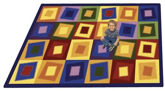 Off Balance Shapes and Colors Playroom Rug