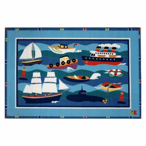 Olive Kids Boats & Bouys Area Rug