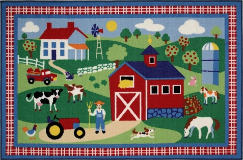 "Country Farm Area Rug  39"" x 58"""