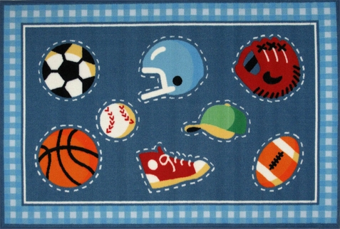 Olive Kids Go Team! Area Rug - Free Shipping