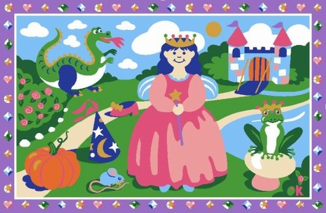 Olive Kids Happily Ever After Area Rug - Free Shipping