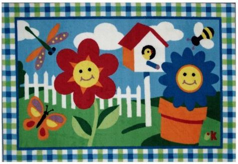 Olive Kids Happy Flowers Area Rug - Free Shipping