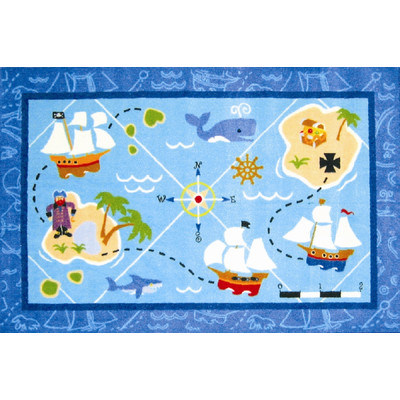 Olive Kids Pirates! Area Rug - Free Shipping