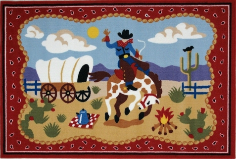 Ride 'Em Area Rug - Free Shipping