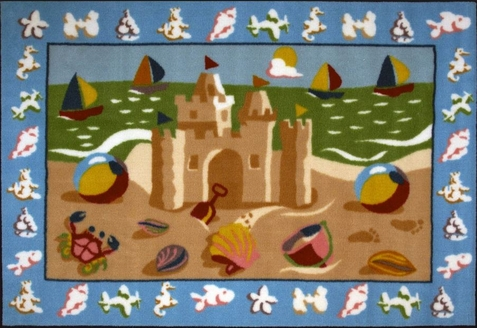 Sand Castle Area Rug - Free Shipping