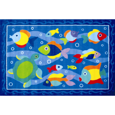 "Somethin' Fishy Area Rug  39"" x 58"""