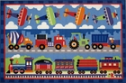 Olive Kids Trains, Planes & Trucks Area Rug