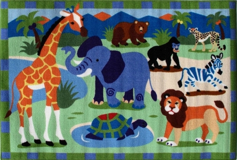 "Wild Animals Area Rug  39"" x 58"""