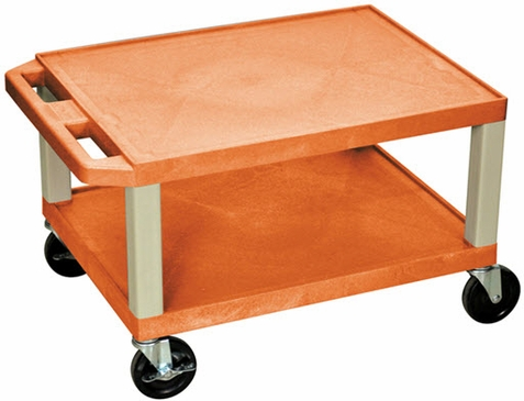 Orange Tuffy Short Utility Cart