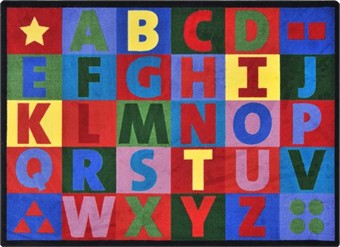 Oversize Alphabet Classroom Rug 5'4 x 7'8 Rectangle