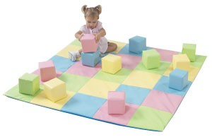 Pastel Matching Mat and Soft Block Set
