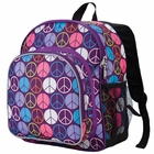 Peace Signs Purple Pack n Snack - Free Shipping