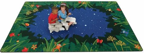 Peaceful Tropical Night Playroom Rug 8' x 12'