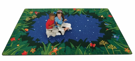 Peaceful Tropical Night Rug Factory Second 8' x 12' Rectangle