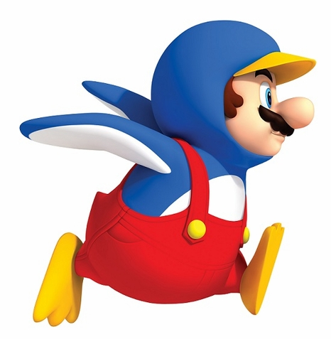 Penguin Mario Peel & Stick Giant Wall Decal