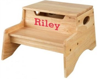 KidKraft Personalized Natural Step Store Stool