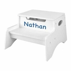 KidKraft Personalized White Step 'n Store Stool