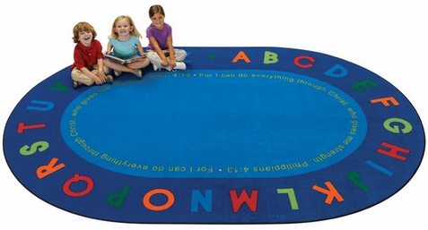 Philippians 4:13 Oval Literacy Rug�6' x 9'