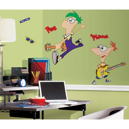 Phineas & Ferb Peel & Stick Giant Wall Decal