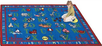 Phonics Fun Educational Rug by 5'4 x 7'8