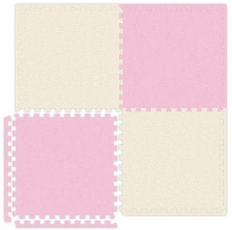 Pink & Ivory Interlocking Soft Touch Floor Mat