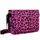 Pink Leopard Laptop Messenger Bag