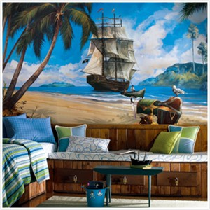 Pirate Ship XL Mural