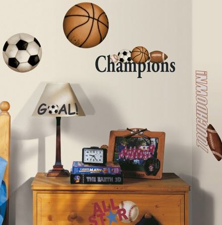 Play Ball Peel & Stick Decals - Free Shipping