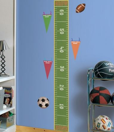 Play Ball Peel & Stick Growth Chart
