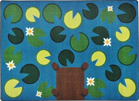 Playful Pond Preschool Rug 7 8 X 10 9 Free Shipping