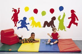 Playful Preschoolers Wall Decal Set