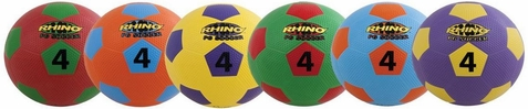 Champion Sports Playground Soccer Ball - Set of 6