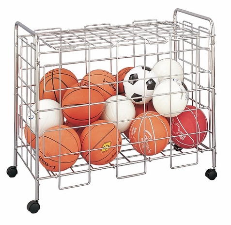 Champion Sports Portable Locking Ball Locker w/ Casters