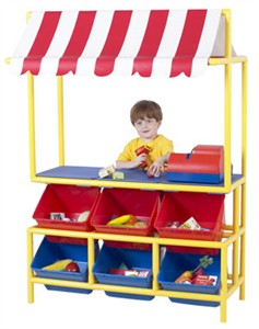 Pretend Play Market Stand