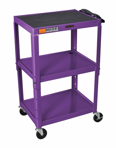 Purple Adjustable Utility Cart