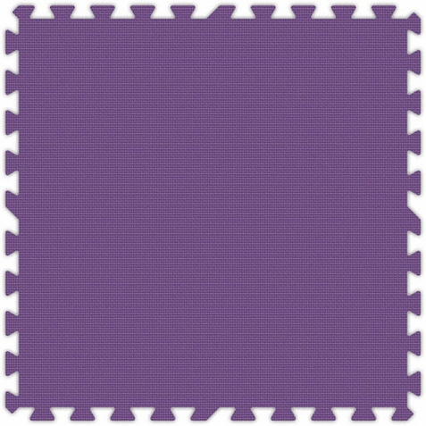 Purple Foam Interlocking Floor Tiles