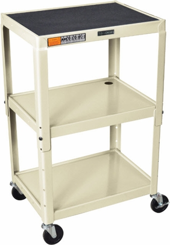 Putty Color Adjustable Utility Cart