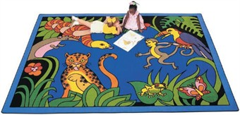 Rainforest Learning Rug Factory Seconds 4'5 x 5'10