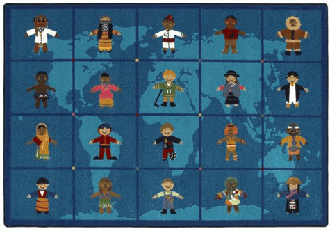 Reach Across the World School Rug 10'9 x 13'2 Rectangle