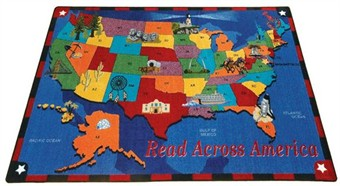 Read Across America Classroom Rug 10'9 x 13'2 Rectangle