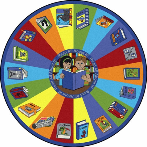 Read All About It Classroom Rug 7'7 Round