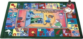 Read & Rhyme Children's Rug 5'4 x 7'8