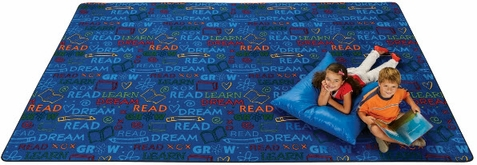 Read to Dream Pattern Library Rug 4' x 6'