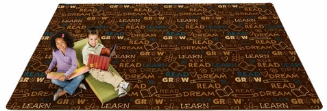 Read to Dream Pattern Rug Nature 4' x 6'
