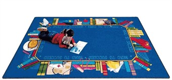 Read to Succeed Classroom Rug 7'8 x 10'9