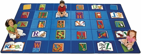 Reading by the Book Classroom Rug 7'6 x 12'