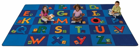 Reading Letters Library Rug 7'6 x 12'